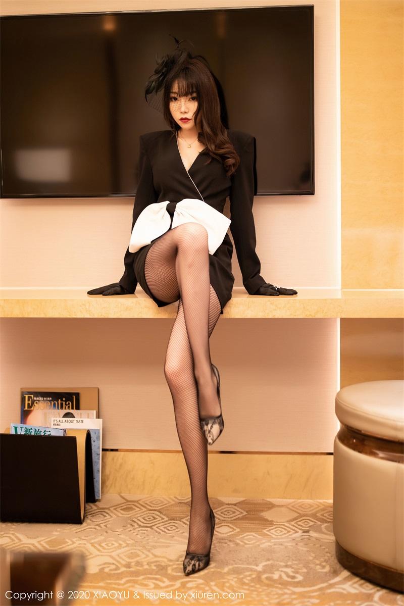 美女写真 高贵典雅制服与魅惑网袜 芝芝Booty [73P/257MB] 美丝写真-第3张