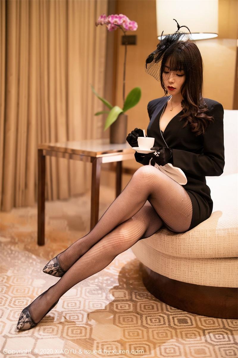 美女写真 高贵典雅制服与魅惑网袜 芝芝Booty [73P/257MB] 美丝写真-第1张