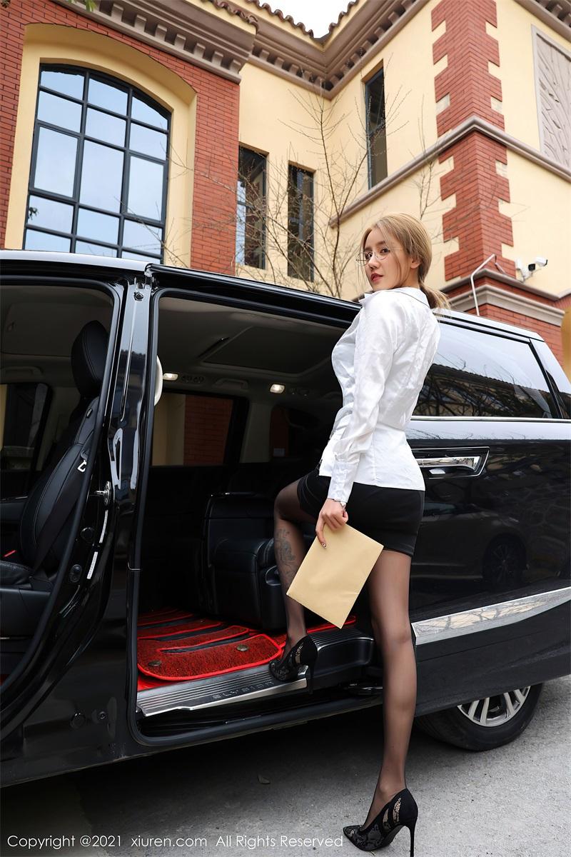 美女写真 商务车车拍 夏西Cici [61P/618MB] 美丝写真-第3张