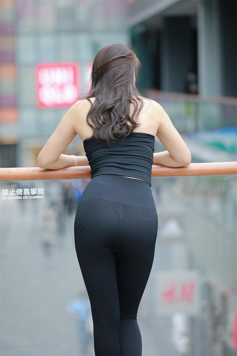 精选街拍 No.149 黑色紧身裤 [202P/277MB] 精选街拍-第4张