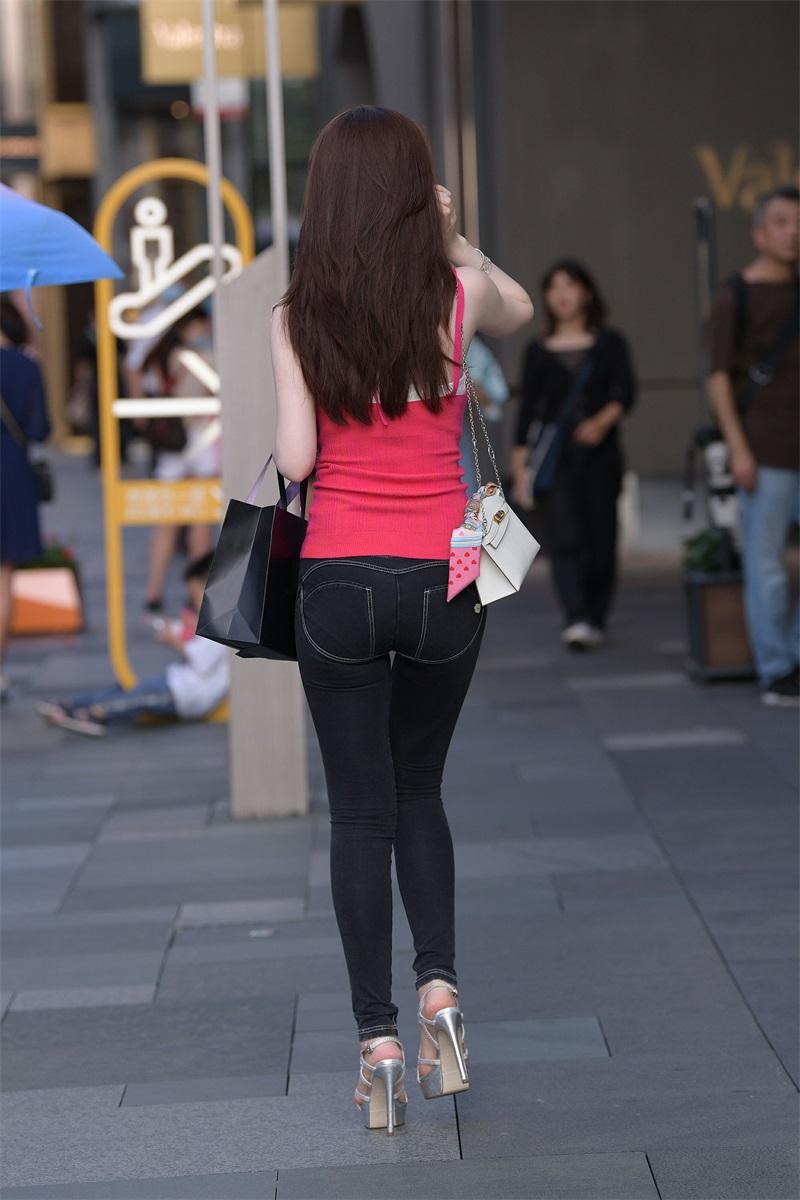 精选街拍 No.164 街拍黑色牛仔裤小街街 [115P/154MB] 精选街拍-第4张