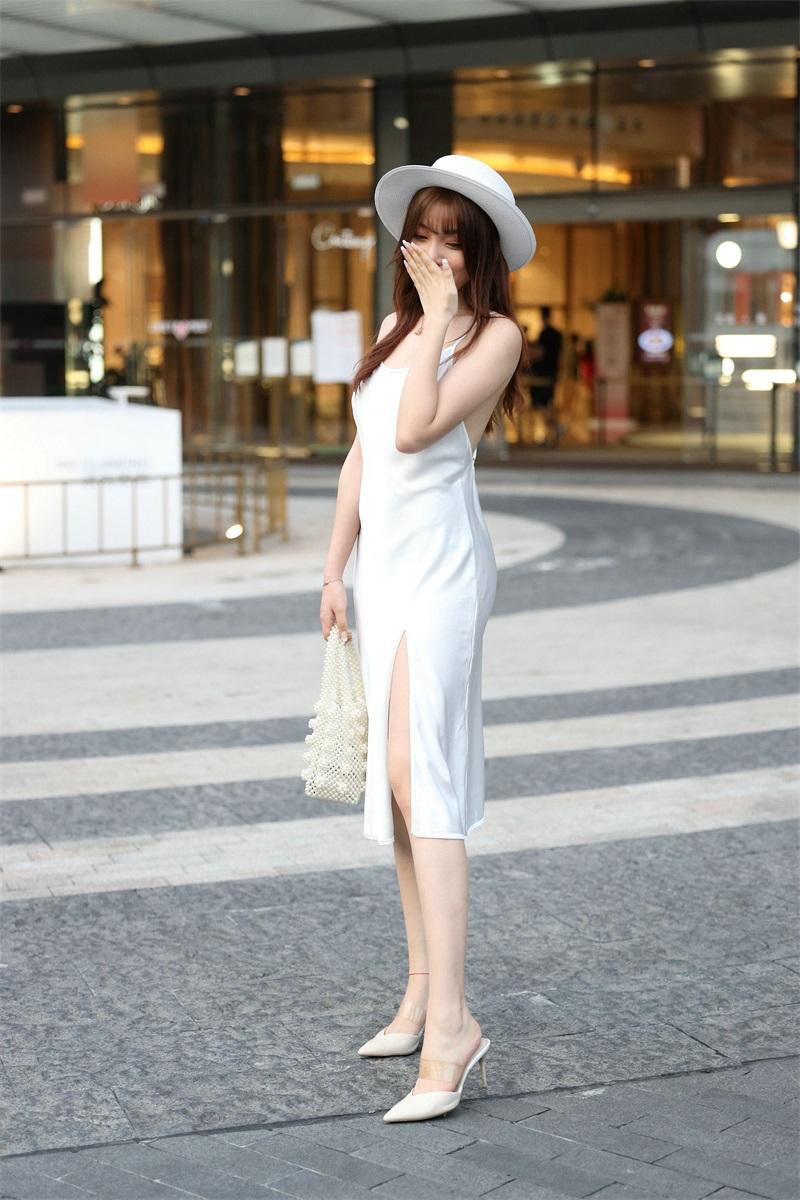 精选街拍 No.103 芝芝 白色裙装 1 [101P/66MB] 精选街拍-第4张