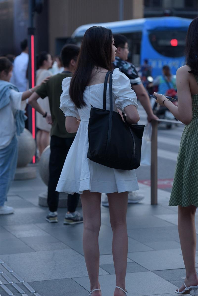 精选街拍 No.131 漂亮的白裙小姐姐 [93P/226MB] 精选街拍-第4张