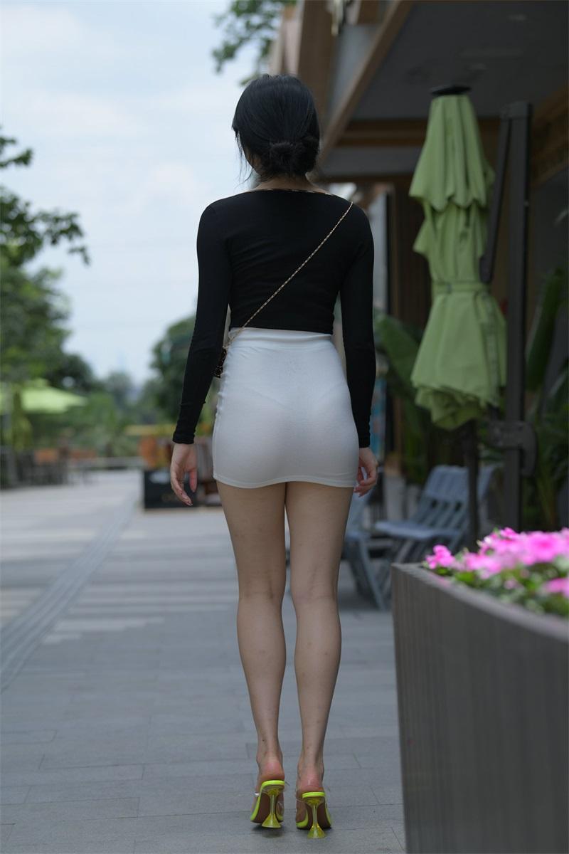 精选街拍 No.130 白裙女子 [375P/573MB] 精选街拍-第3张