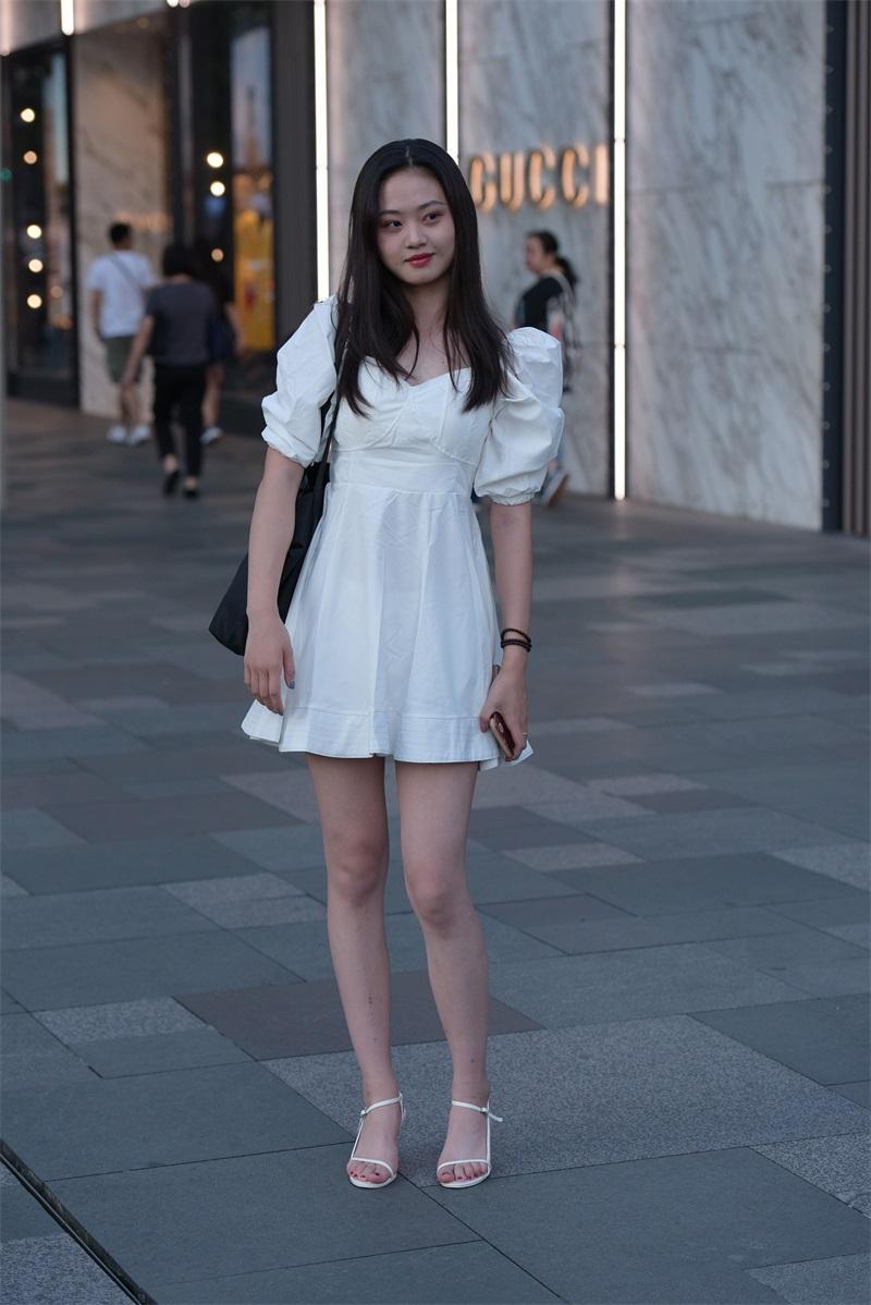 精选街拍 No.131 漂亮的白裙小姐姐 [93P/226MB] 精选街拍-第3张