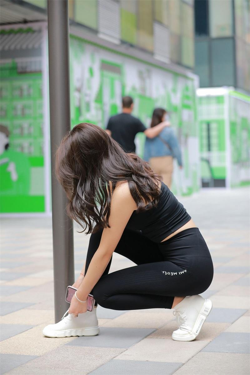 精选街拍 No.149 黑色紧身裤 [202P/277MB] 精选街拍-第3张