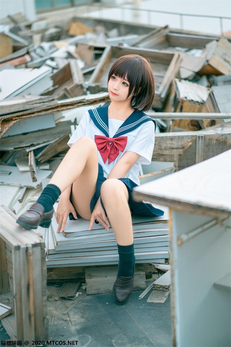 萝莉系列 喵糖映画少女写真 JKL.021 天台JK至服 [33P/512MB] 喵糖映画-第3张
