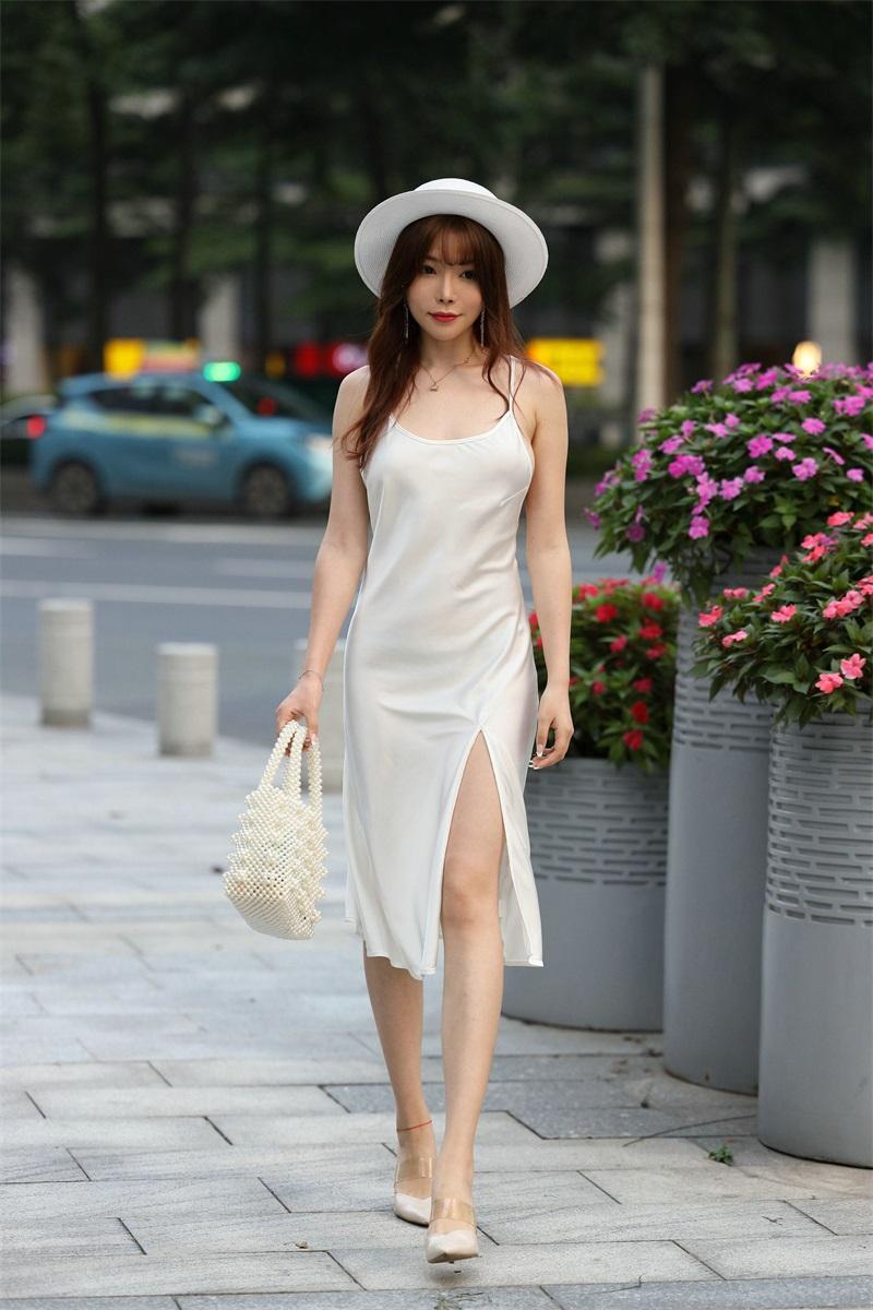 精选街拍 No.103 芝芝 白色裙装 1 [101P/66MB] 精选街拍-第3张