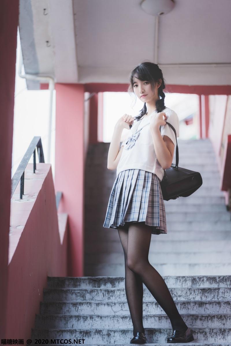 萝莉系列 喵糖映画少女写真JKL.018 户外JK至服 [54P/1.23GB] 喵糖映画-第3张