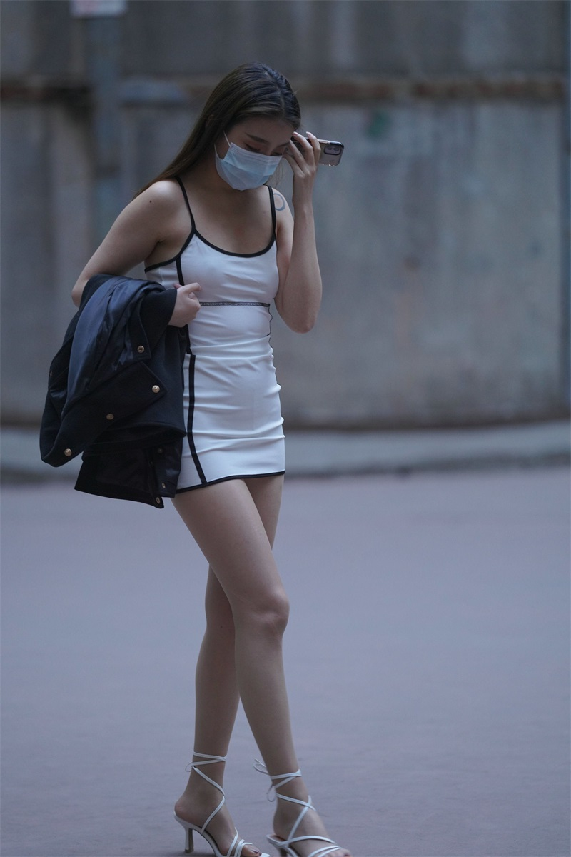 精选街拍 No.129 好养眼的白裙美眉 3 [121P/50MB] 精选街拍-第3张