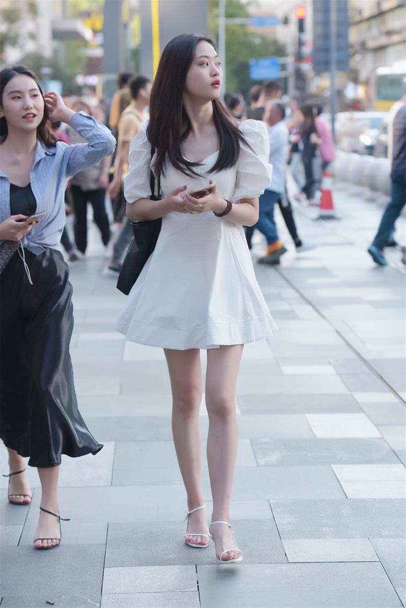 精选街拍 No.131 漂亮的白裙小姐姐 [93P/226MB] 精选街拍-第2张