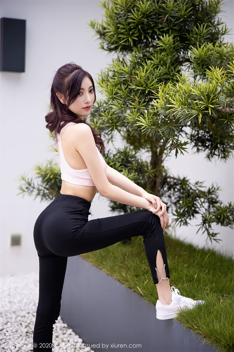 美女写真 运动内衣和粉色长裙 杨晨晨sugar [71P/673MB] 美丝写真-第2张