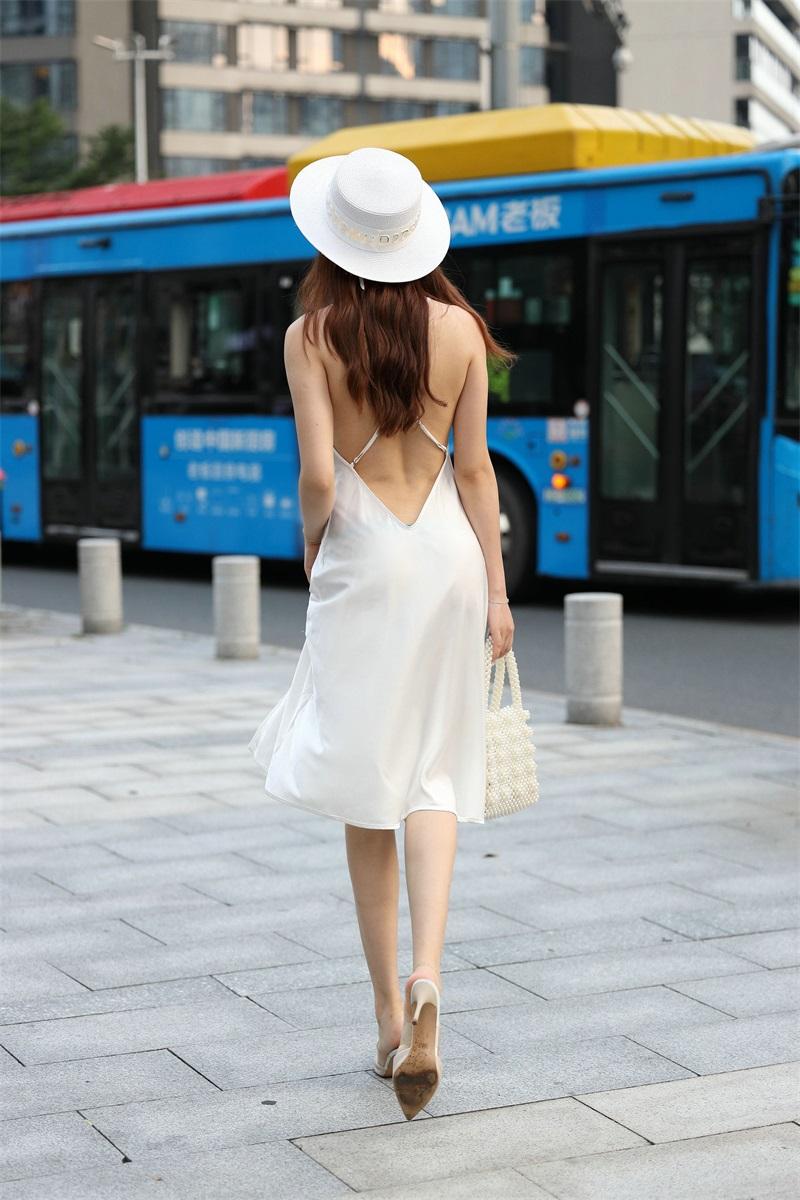 精选街拍 No.103 芝芝 白色裙装 1 [101P/66MB] 精选街拍-第2张