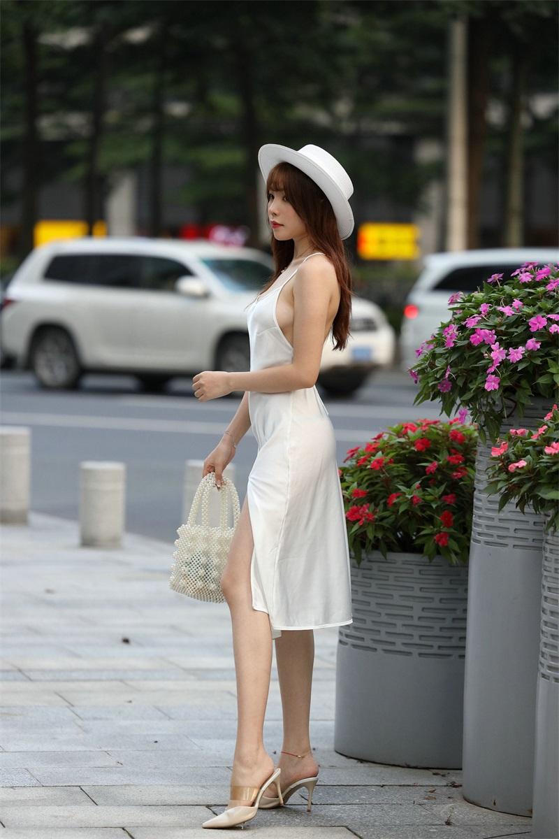 精选街拍 No.103 芝芝 白色裙装 1 [101P/66MB] 精选街拍-第1张