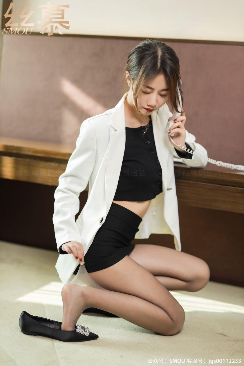 丝模系列 丝慕写真 SM432 天天一元 模特:米朵《灰色超薄连裤袜》[57P/112MB] 丝慕写真-第4张