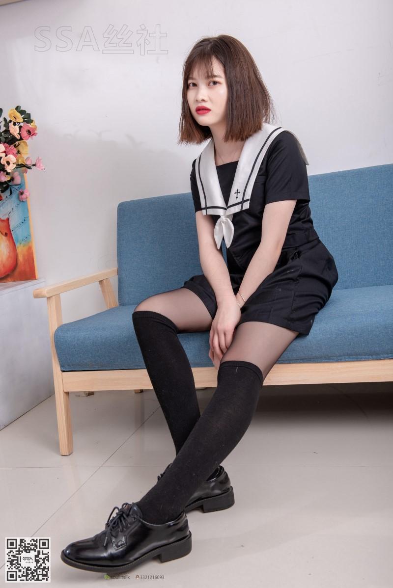 [SSA丝社] NO.113 穗子 黑色系JK制服腿模 [99P/168MB] SSA丝社-第2张