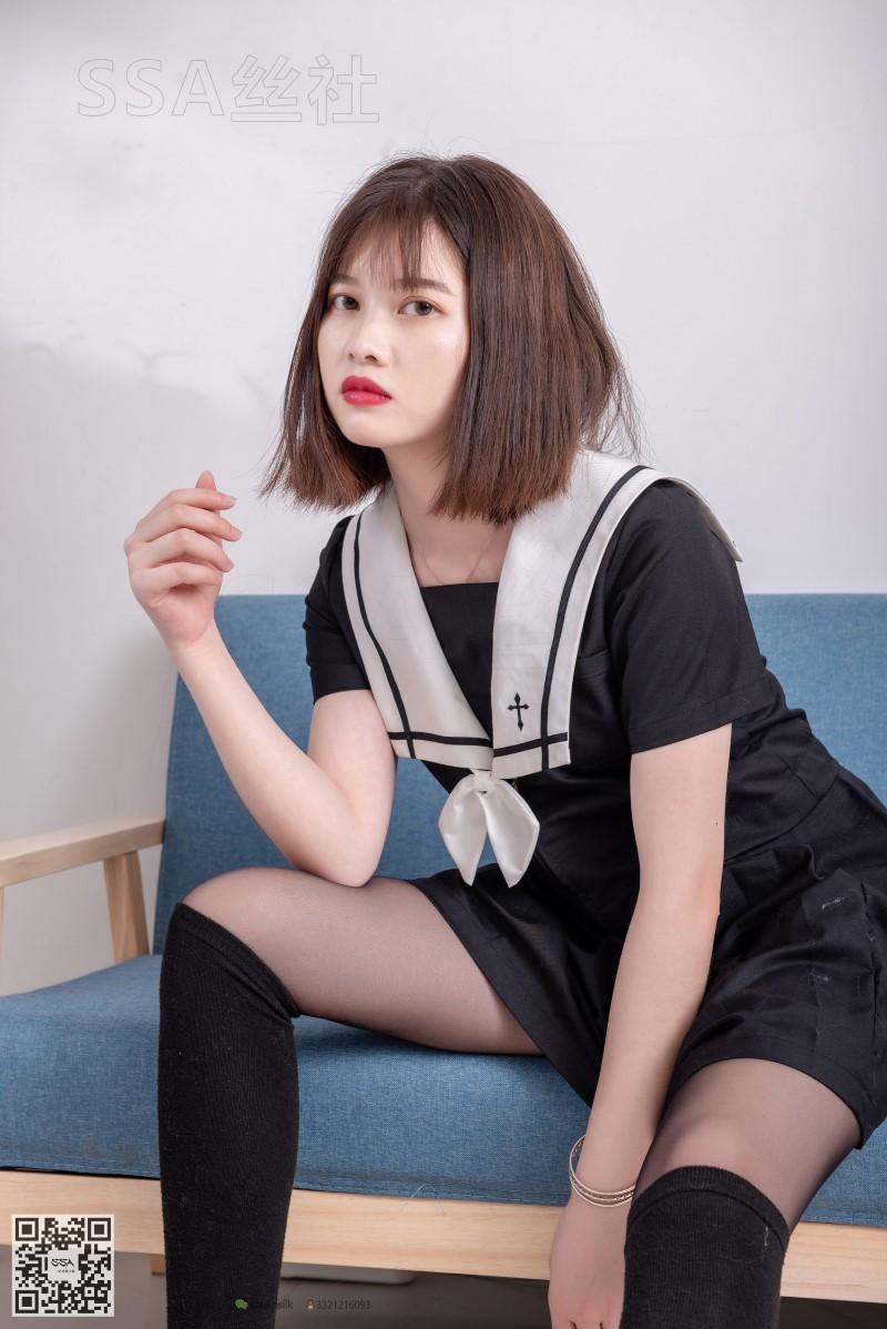 [SSA丝社] NO.113 穗子 黑色系JK制服腿模 [99P/168MB] SSA丝社-第3张