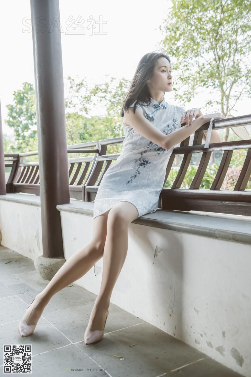 [SSA丝社] NO.111 丽萍 烈日下的清新旗袍 [99P/65MB] SSA丝社-第4张