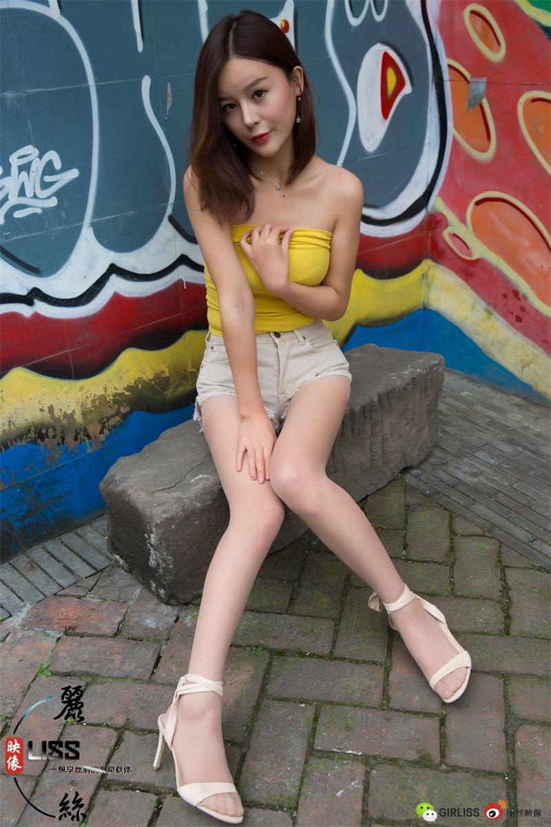 [LISS丽丝] NO.038 凉冰《穿超短热裤+丝袜的凉冰》[53P/835MB] LISS丽丝-第4张