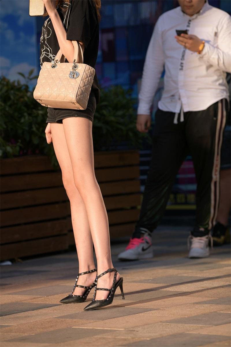 精选街拍 No.187 黑色热裤小姐姐 [134P/106MB] 精选街拍-第4张