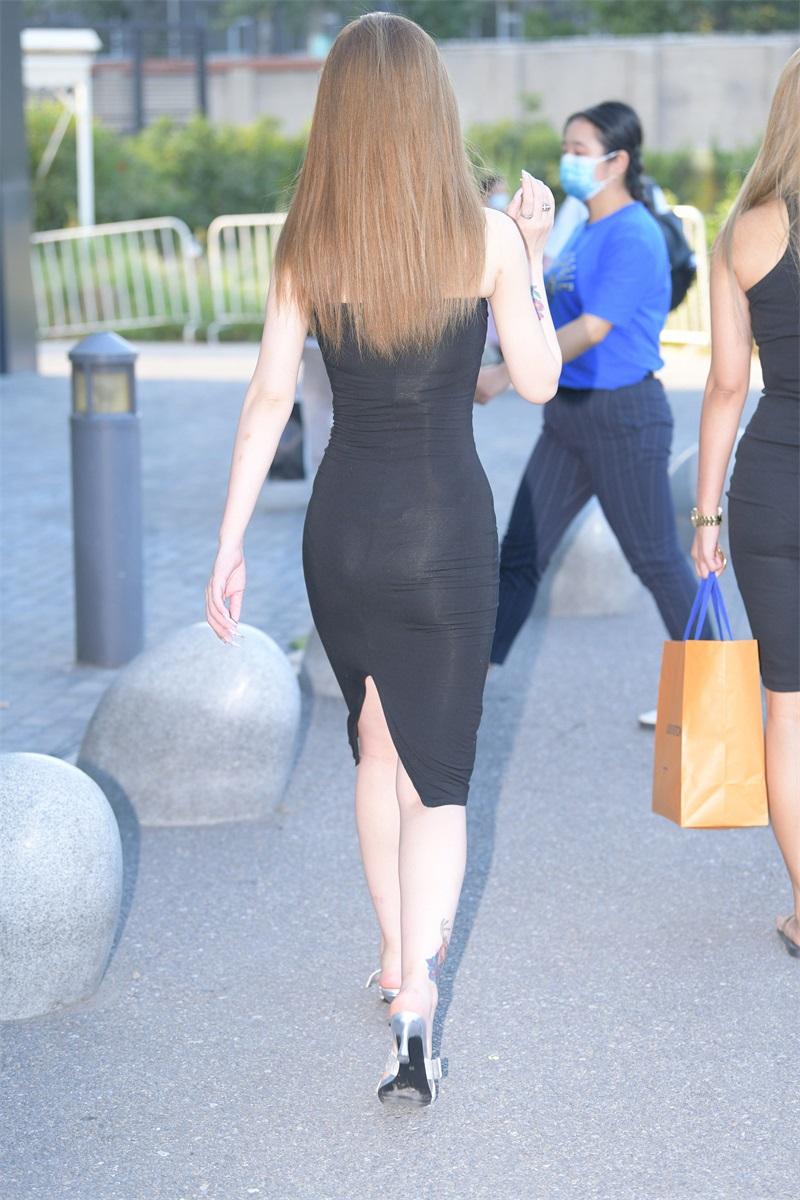 精选街拍 No.188 黑色吊带连衣裙 [175P/222MB] 精选街拍-第4张