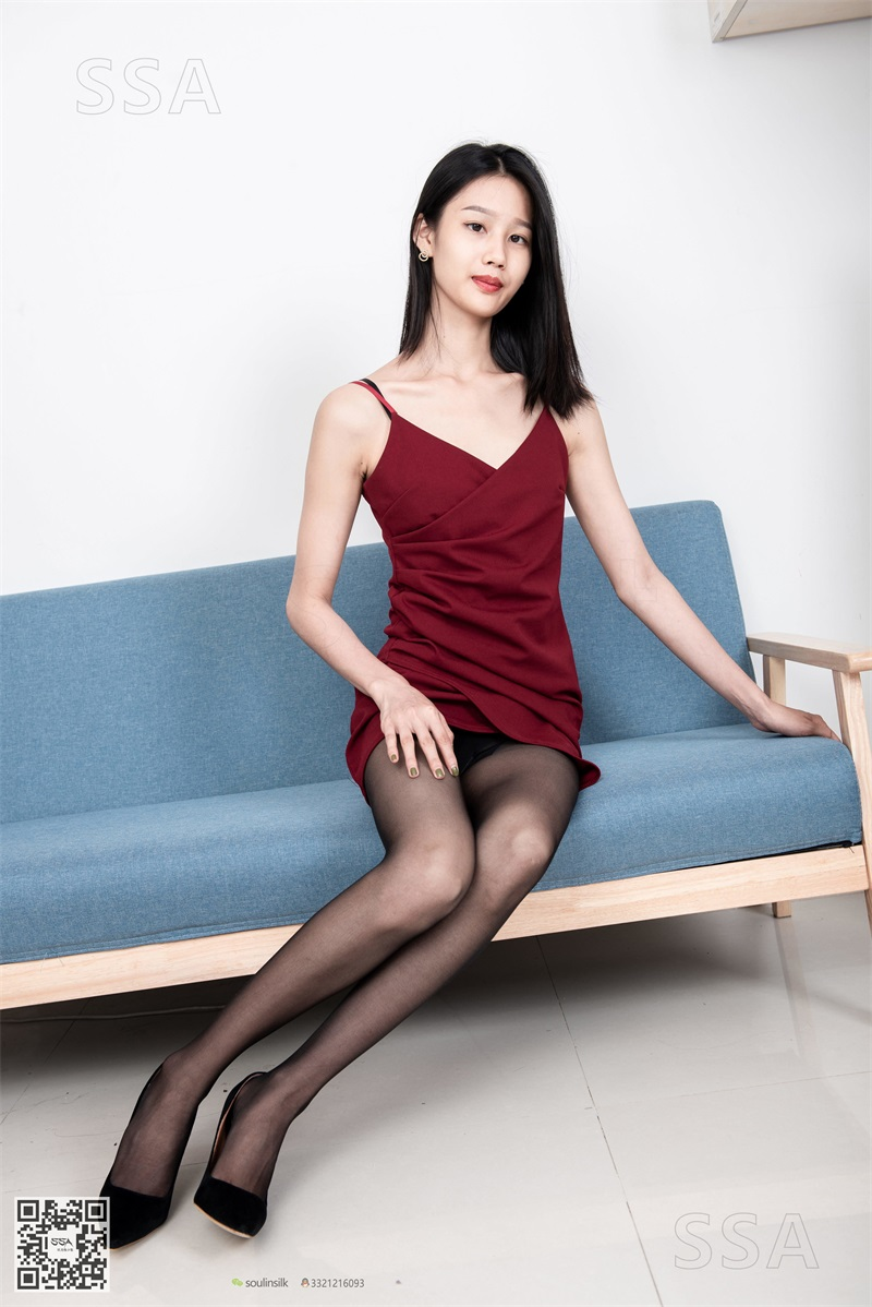 [SSA丝社] NO.145 星星 深红色礼裙搭配黑丝 [99P/136MB] SSA丝社-第4张