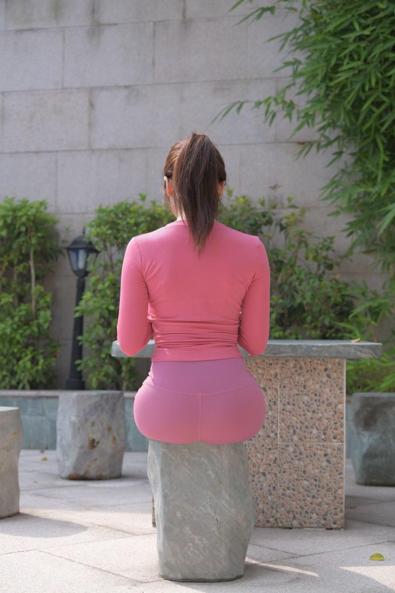 精选街拍 No.204 粉色瑜伽裤小姐姐1 [300P/814MB] 精选街拍-第4张