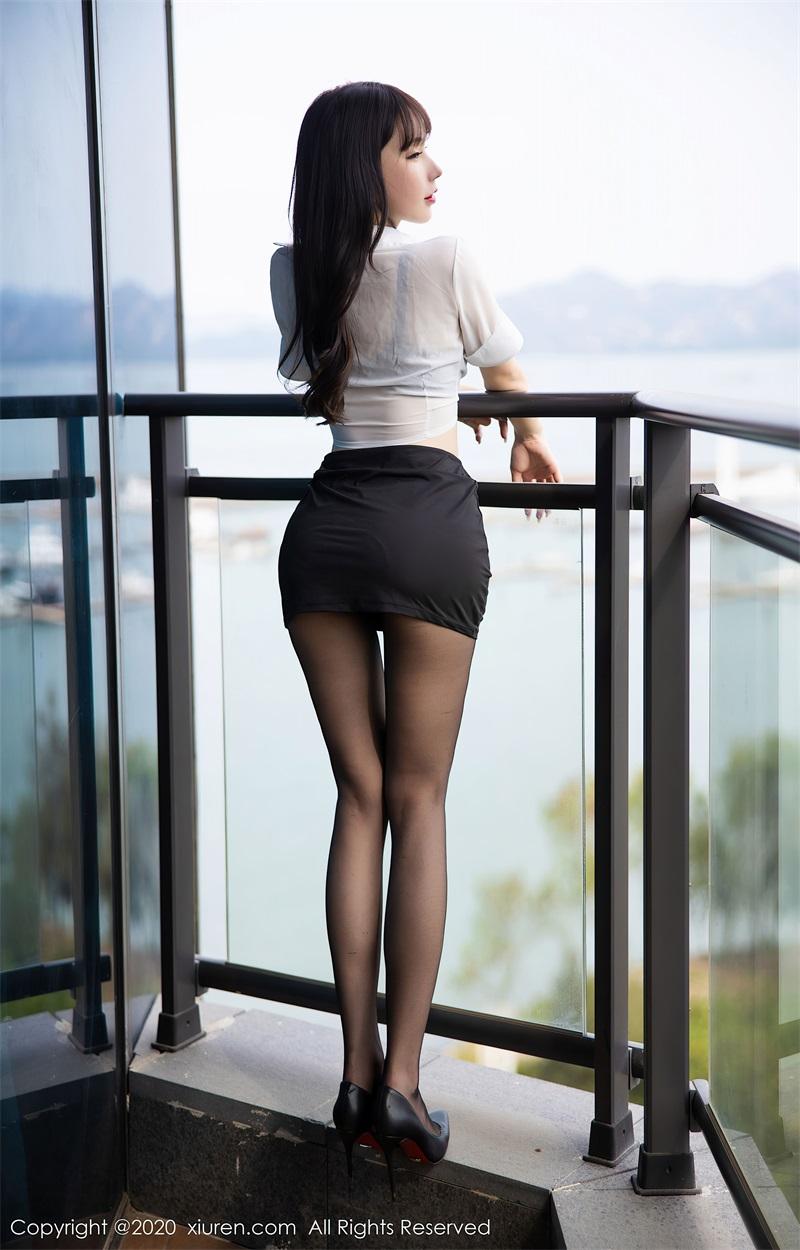 美女写真 经典的白衬衫黑短裙 周于希Sandy [65P/592MB] 美丝写真-第4张