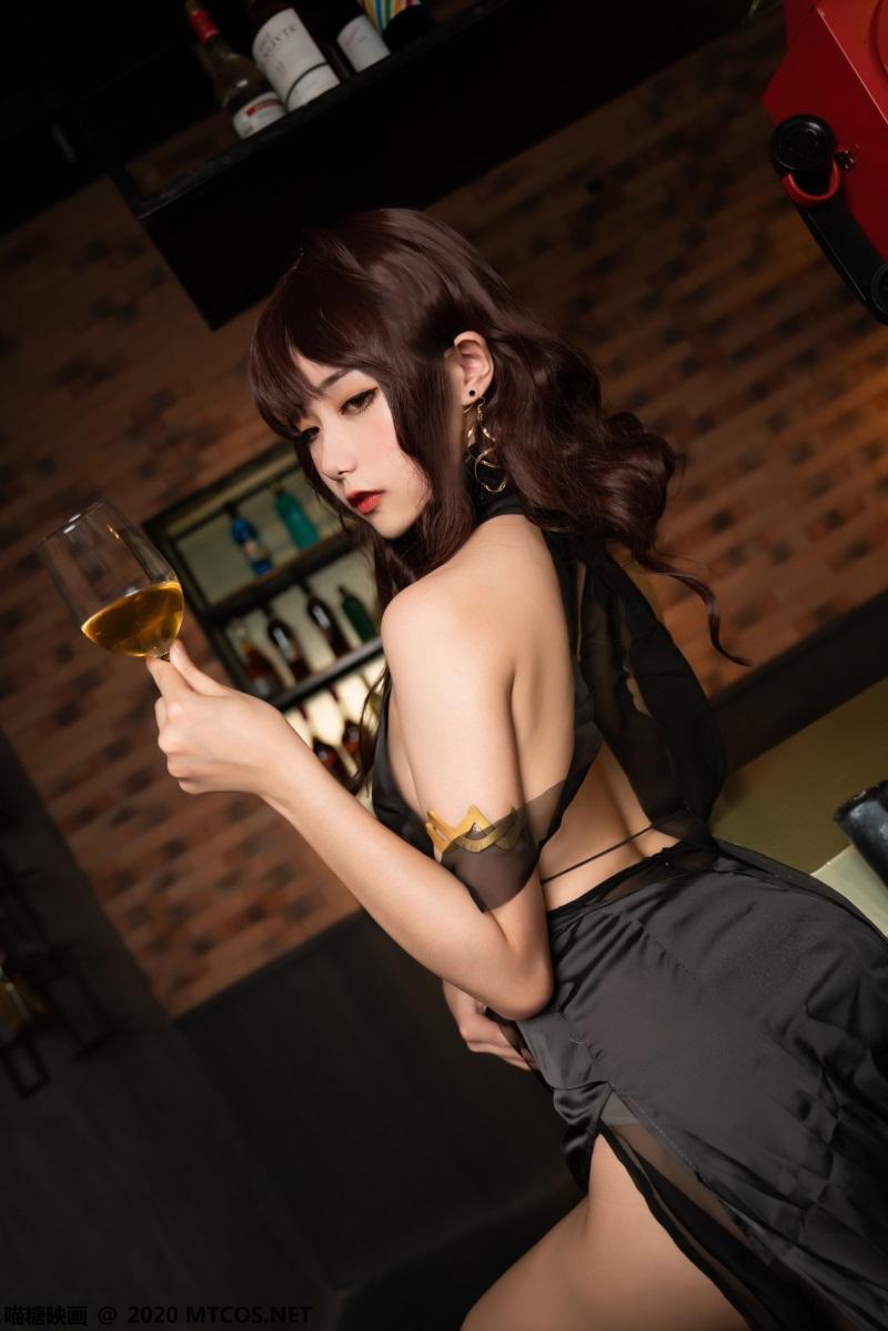 萝莉系列 喵糖映画少女写真 VOL.336 黑裙酒馆 [20P/430MB] 喵糖映画-第3张