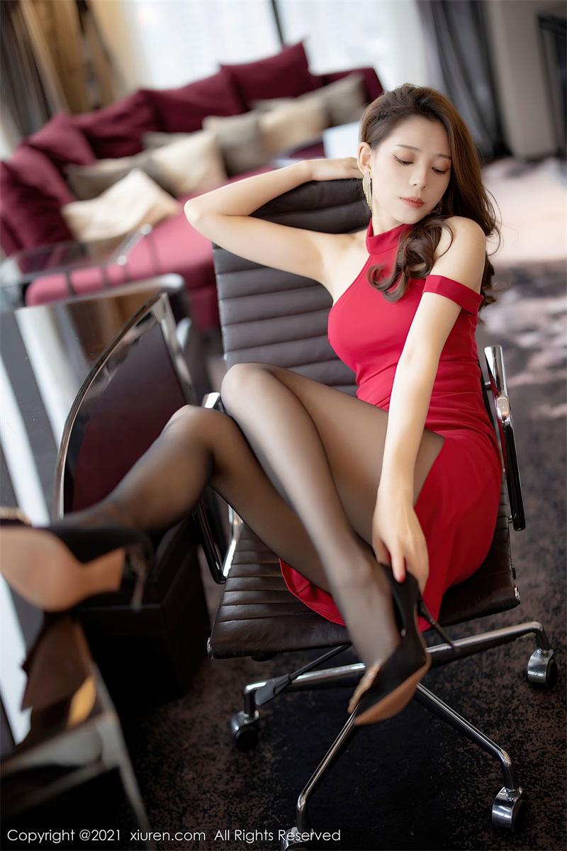 美女写真 猩红礼裙 言沫 [67P/549MB] 美丝写真-第4张