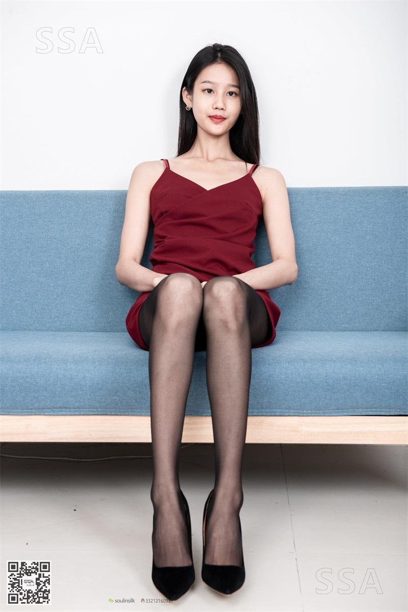 [SSA丝社] NO.145 星星 深红色礼裙搭配黑丝 [99P/136MB] SSA丝社-第3张