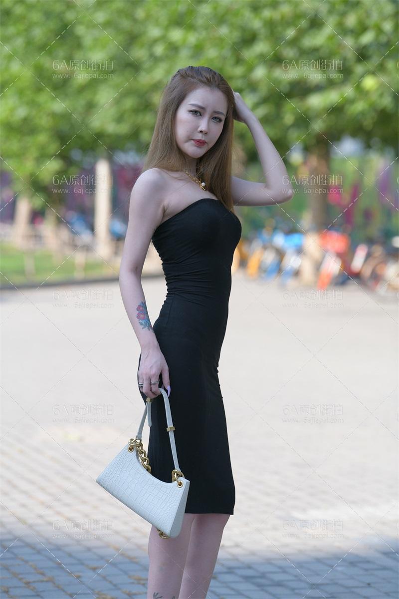 精选街拍 No.188 黑色吊带连衣裙 [175P/222MB] 精选街拍-第2张