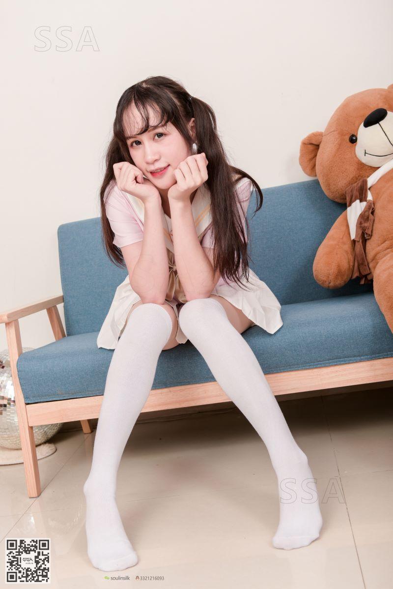 [SSA丝社] NO.144 丹丹 白色棉袜 [195P/334MB] SSA丝社-第1张