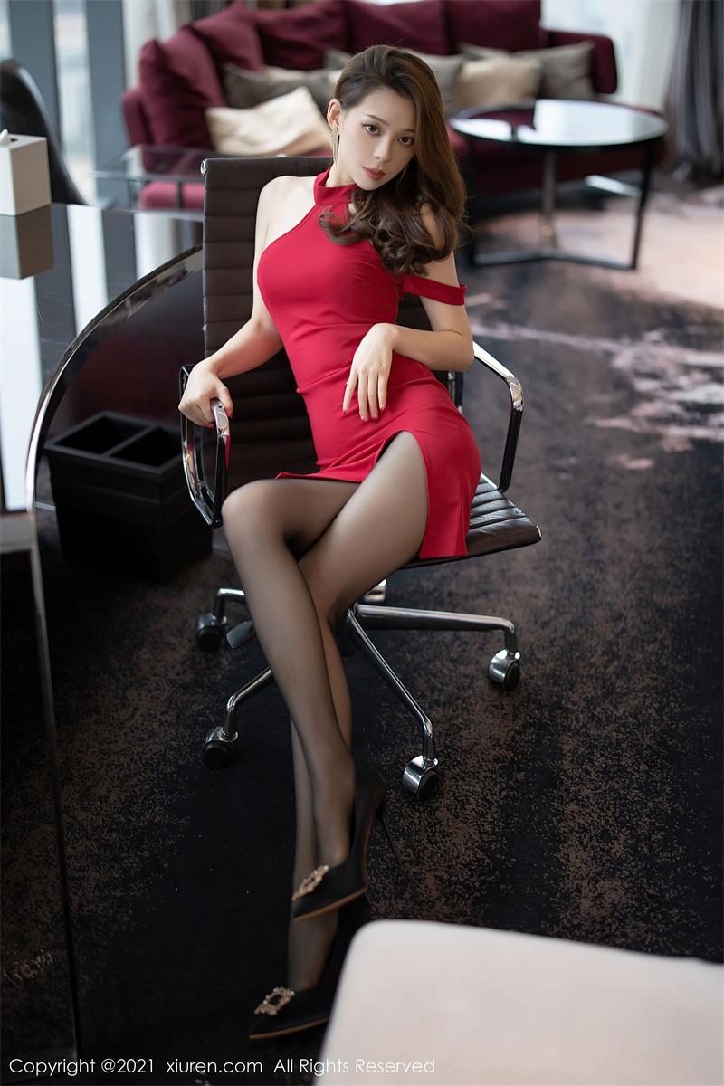 美女写真 猩红礼裙 言沫 [67P/549MB] 美丝写真-第3张