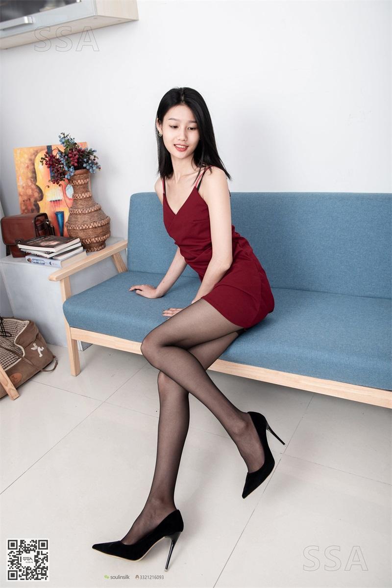 [SSA丝社] NO.145 星星 深红色礼裙搭配黑丝 [99P/136MB] SSA丝社-第2张