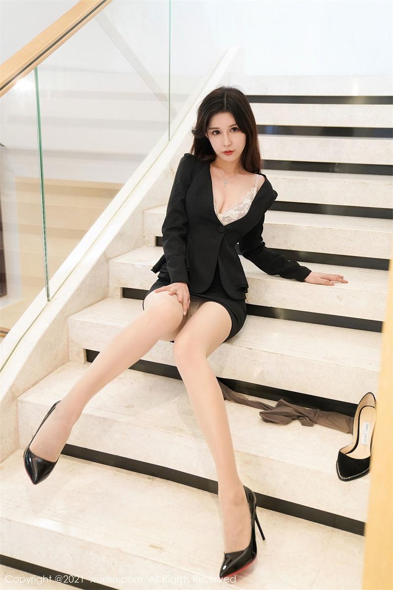 美女写真 职业装OL 张雨萌 [46P/467MB] 美丝写真-第3张