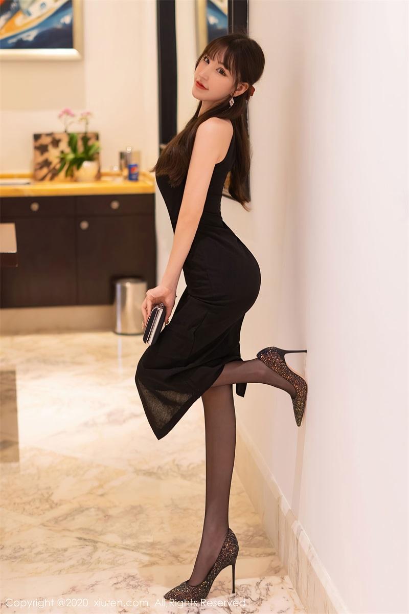 美女写真 黑色典雅礼裙 周于希Sandy [67P/581MB] 美丝写真-第2张
