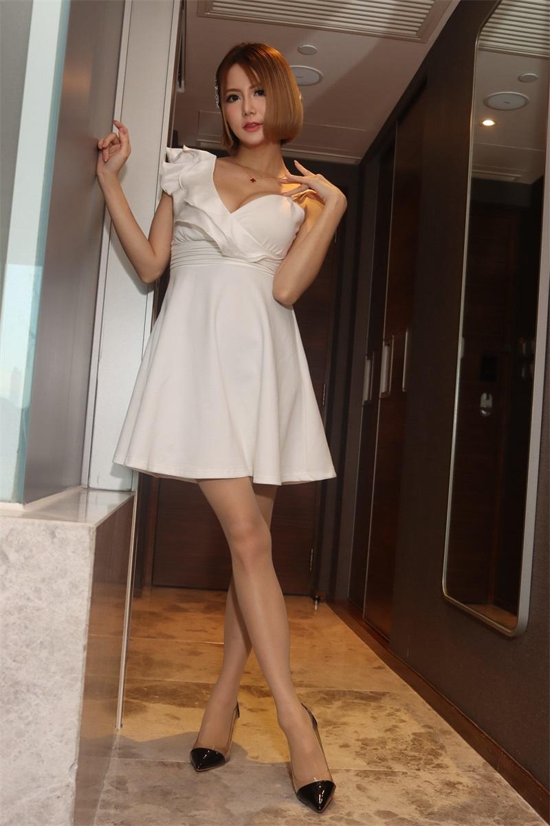 精选模拍 NO.004 Memi 白色短裙 [95P/117MB] 精选模拍-第1张