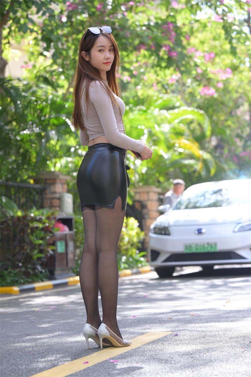 精选旅拍 NO.018 皮短裙黑丝3 [190P/226MB] 精选旅拍-第1张