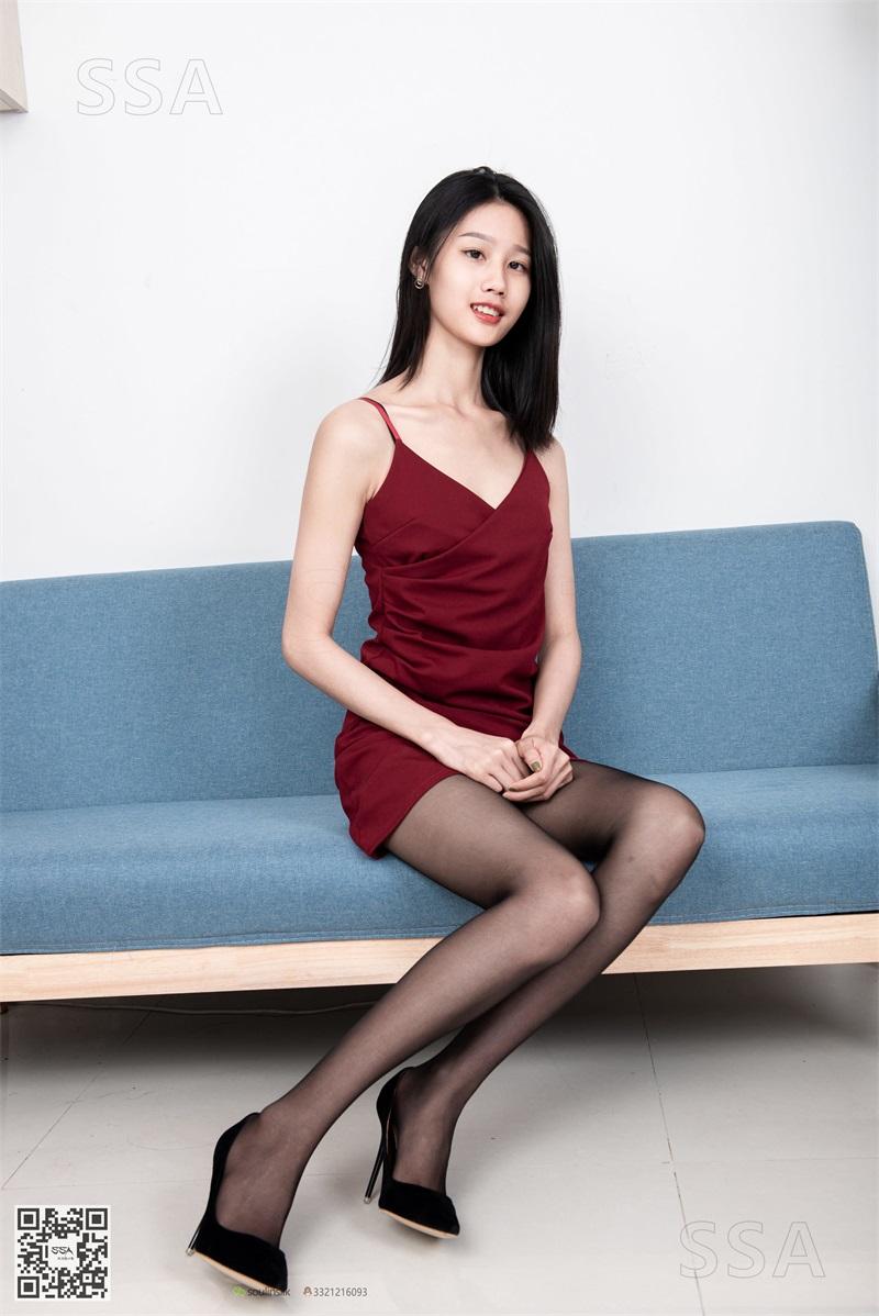 [SSA丝社] NO.145 星星 深红色礼裙搭配黑丝 [99P/136MB] SSA丝社-第1张