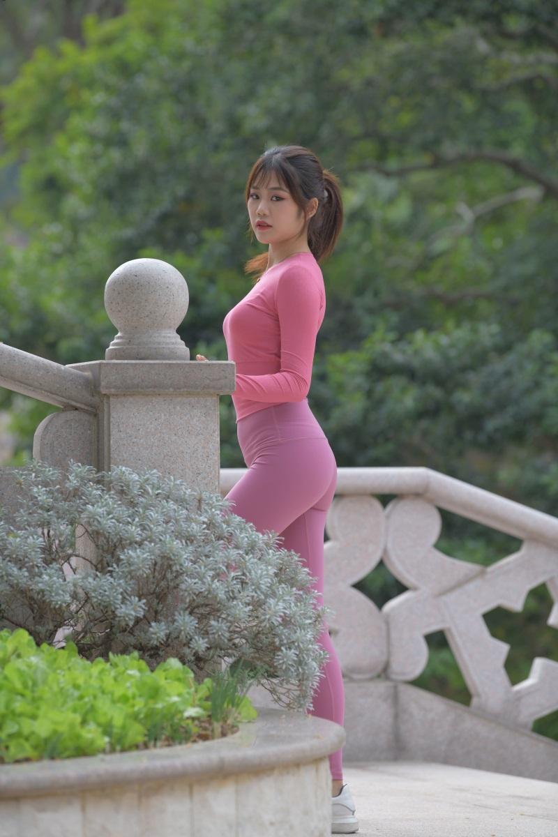 精选街拍 No.204 粉色瑜伽裤小姐姐1 [300P/814MB] 精选街拍-第1张