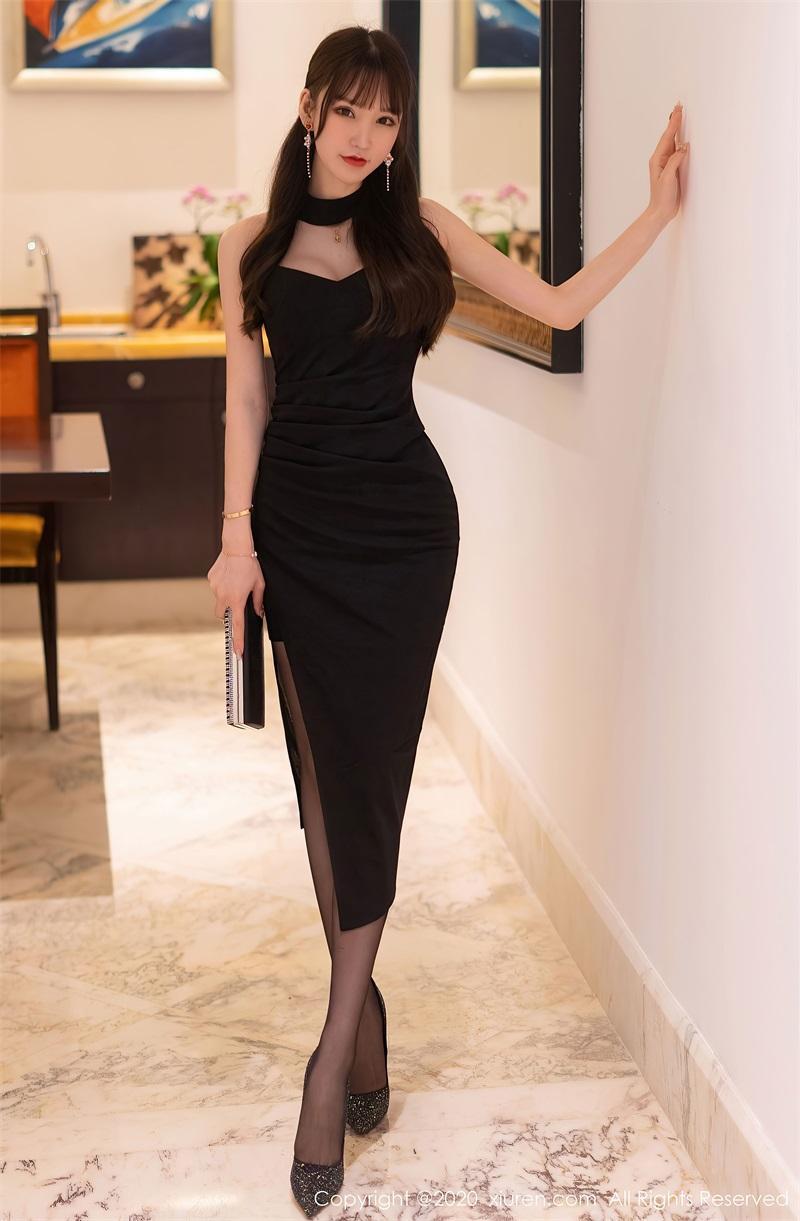 美女写真 黑色典雅礼裙 周于希Sandy [67P/581MB] 美丝写真-第1张