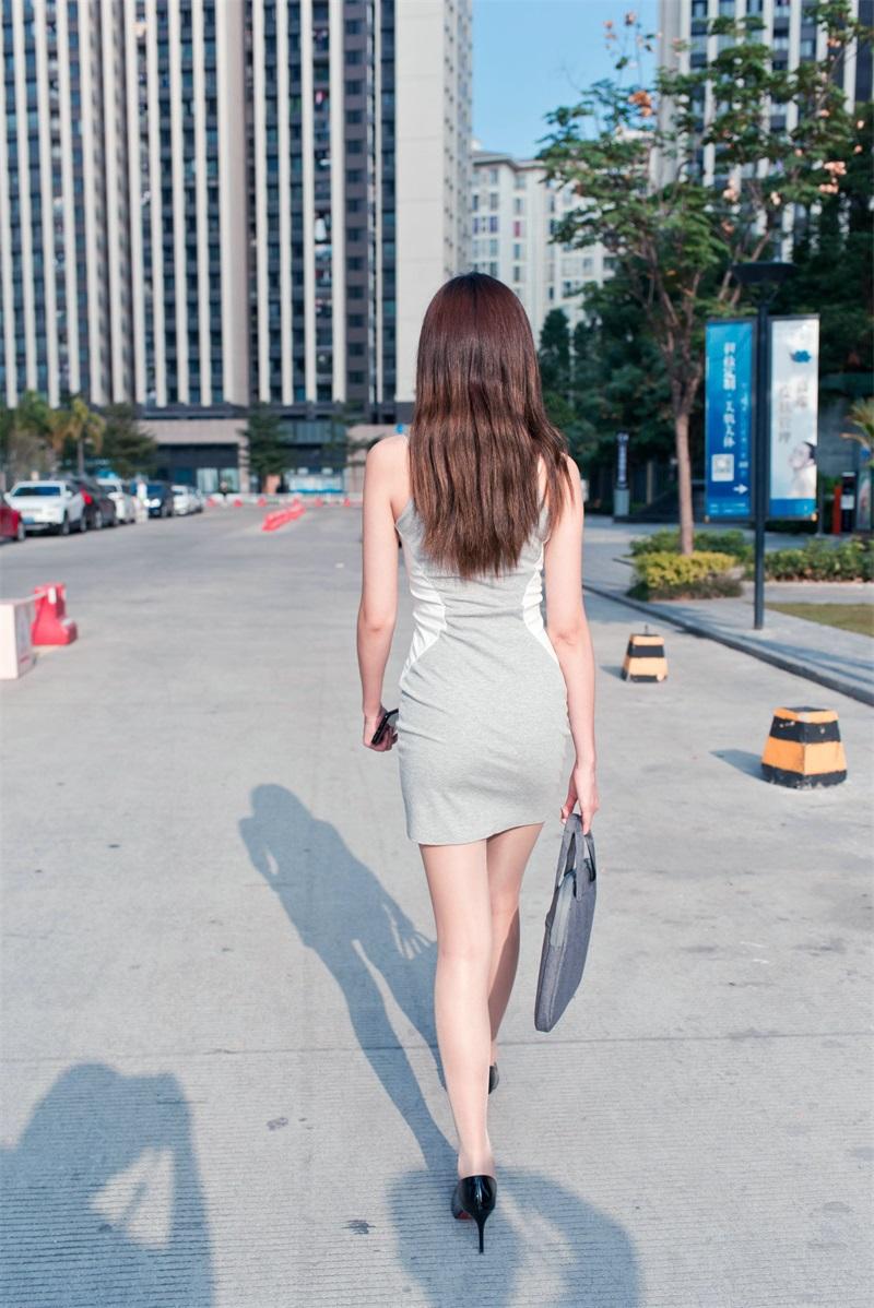 精选街拍 No.174 午后休闲的包屯灰裙极品薄丝OL镁钕婷婷 2 [118P/104MB] 精选街拍-第3张