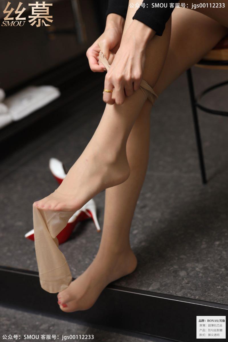 丝模系列 丝慕写真 SM436 天天一元 模特:茗茗《白色高跟鞋》[64P/71MB] 丝慕写真-第4张