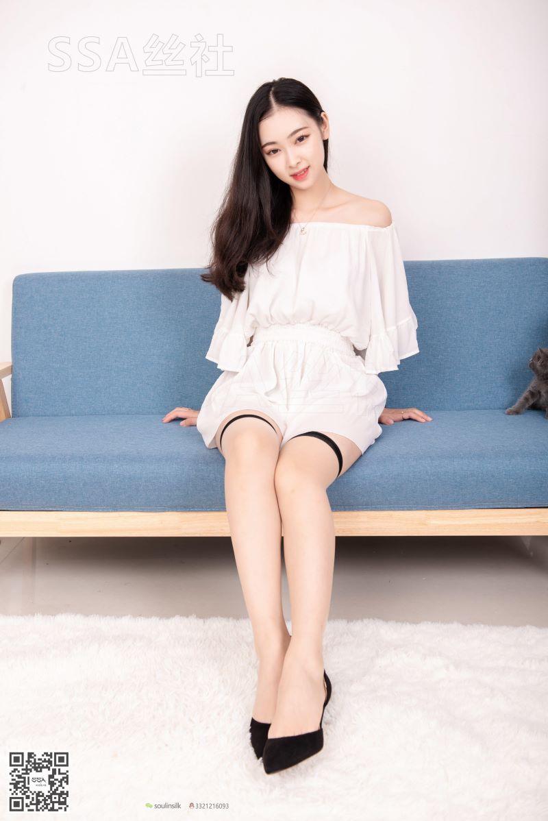 [SSA丝社] NO.143 文娟 白色连体裤 [99P/143MB] SSA丝社-第2张
