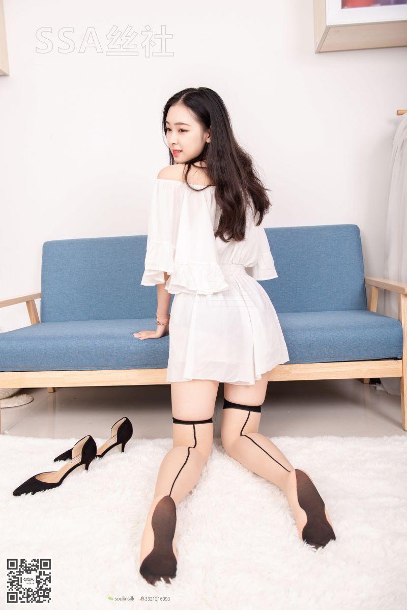 [SSA丝社] NO.143 文娟 白色连体裤 [99P/143MB] SSA丝社-第4张