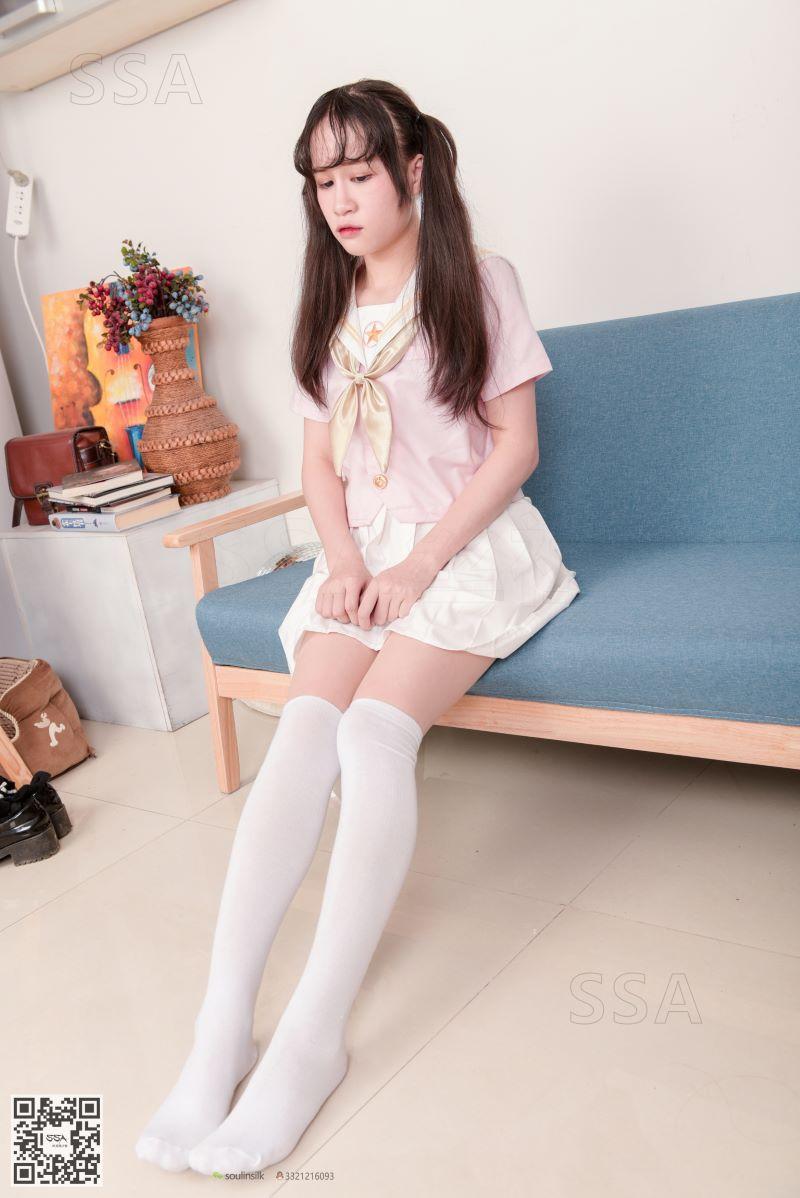 [SSA丝社] NO.144 丹丹 白色棉袜 [195P/334MB] SSA丝社-第2张