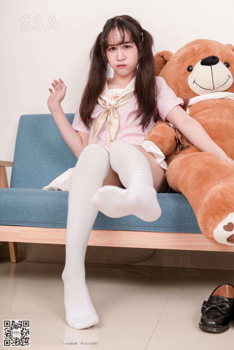 [SSA丝社] NO.144 丹丹 白色棉袜 [195P/334MB] SSA丝社-第3张