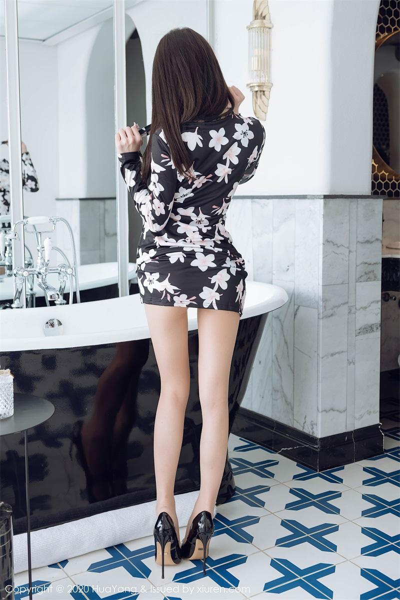 美女写真 黑色印花睡衣 周于希Sandy [61P/566MB] 美丝写真-第4张