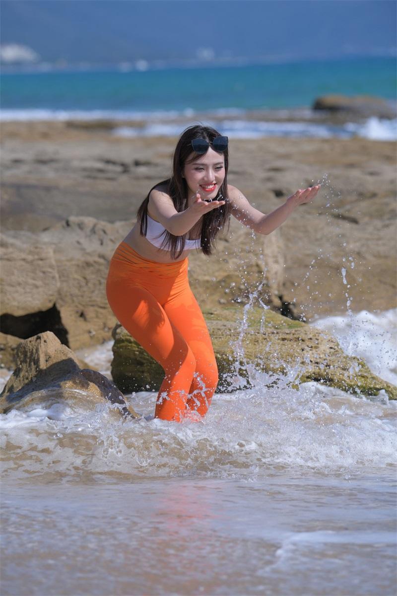 精选旅拍 NO.031 穿橘色瑜伽裤的美女2 [190P/122MB] 精选旅拍-第4张